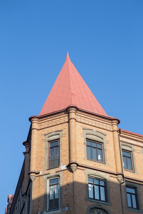 Gammal byggnad i Göteborg arkivbild