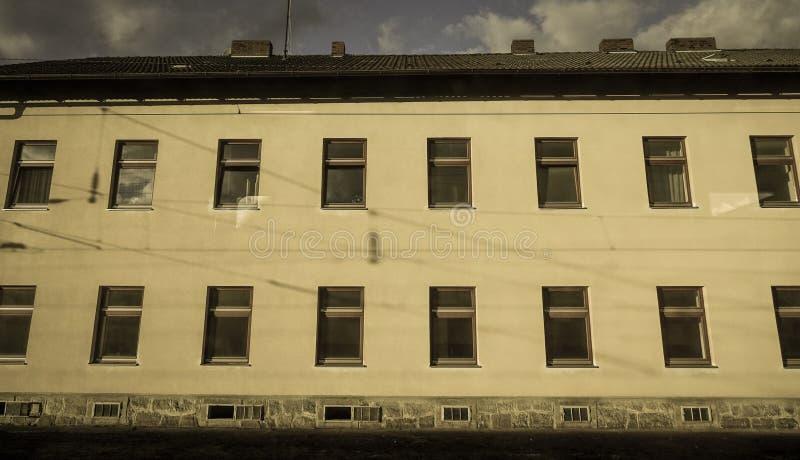 Gammal byggnad i Linz, Österrike arkivbilder