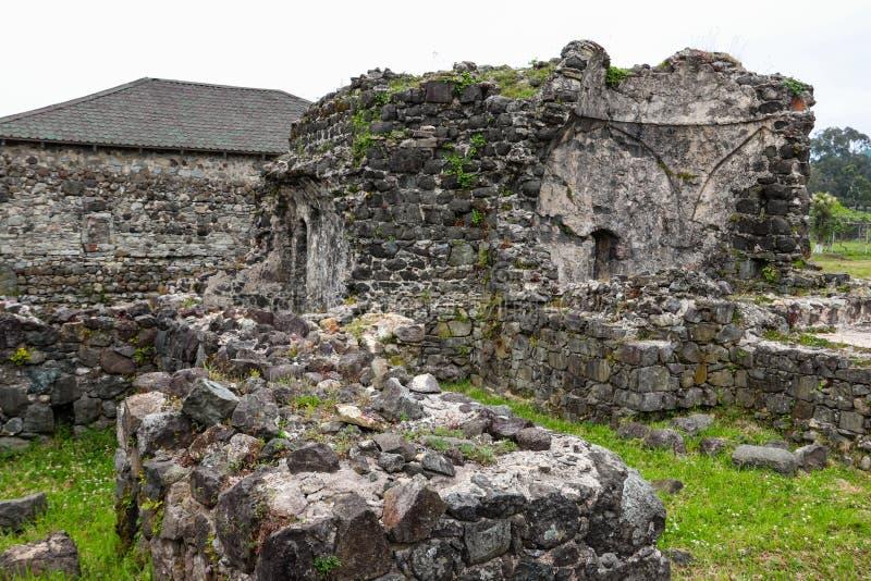 Gammal byzantine Gonio fästning arkivbild