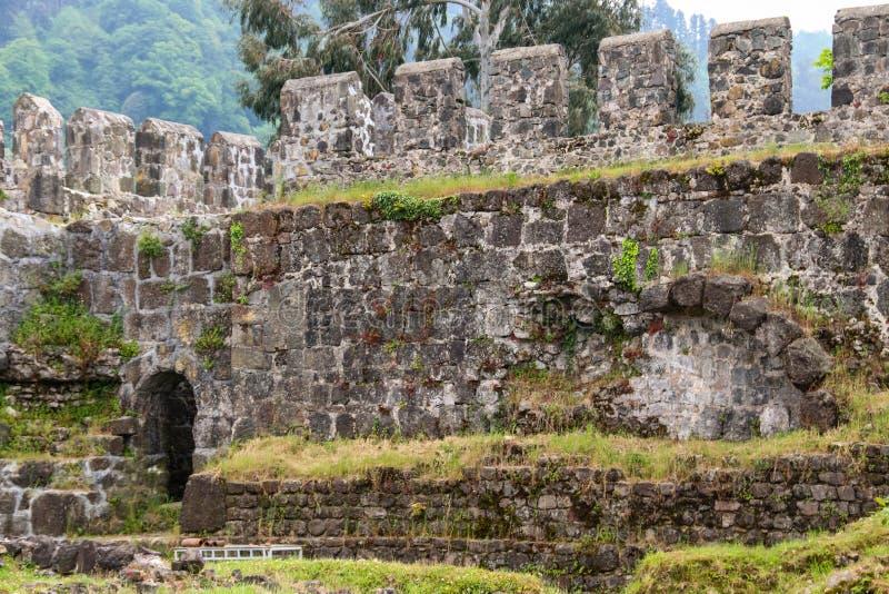 Gammal byzantine Gonio fästning arkivbilder