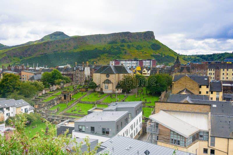 Gammal Calton gravplatskyrkogård i Edinburg arkivfoto