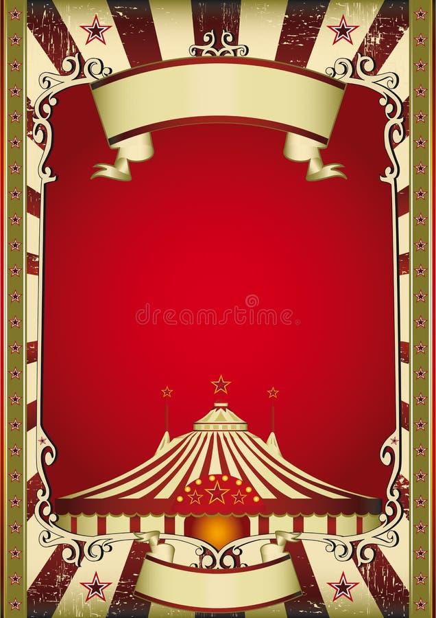 gammal cirkus royaltyfri illustrationer