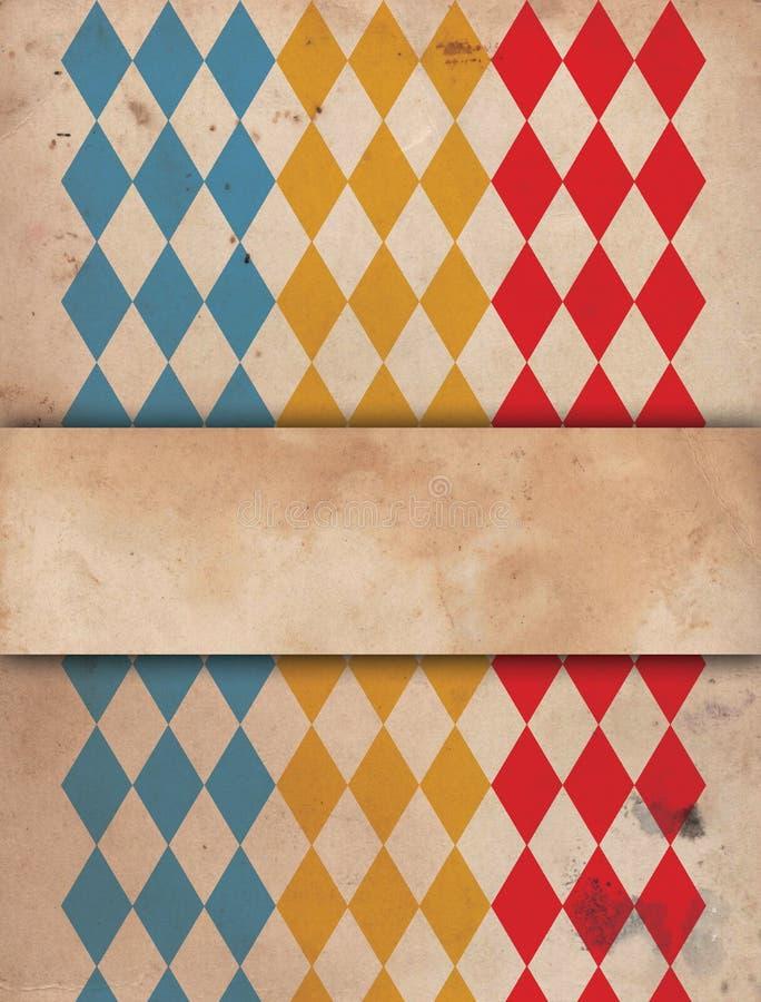 Gammal cirkusaffisch stock illustrationer