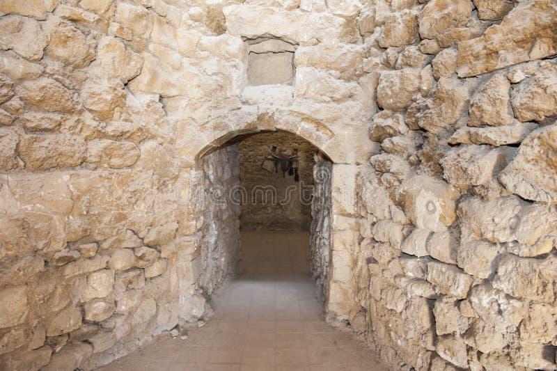 Gammal dörröppning i forntida ottomanfort royaltyfri fotografi