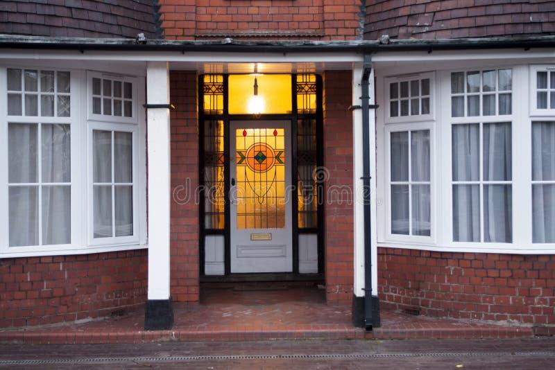Gammal dörr i Förenade kungariket Wolverhampton royaltyfria foton