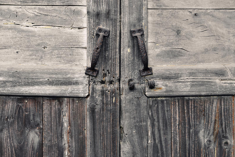 Gammal dörr och gammal wood textur arkivbild