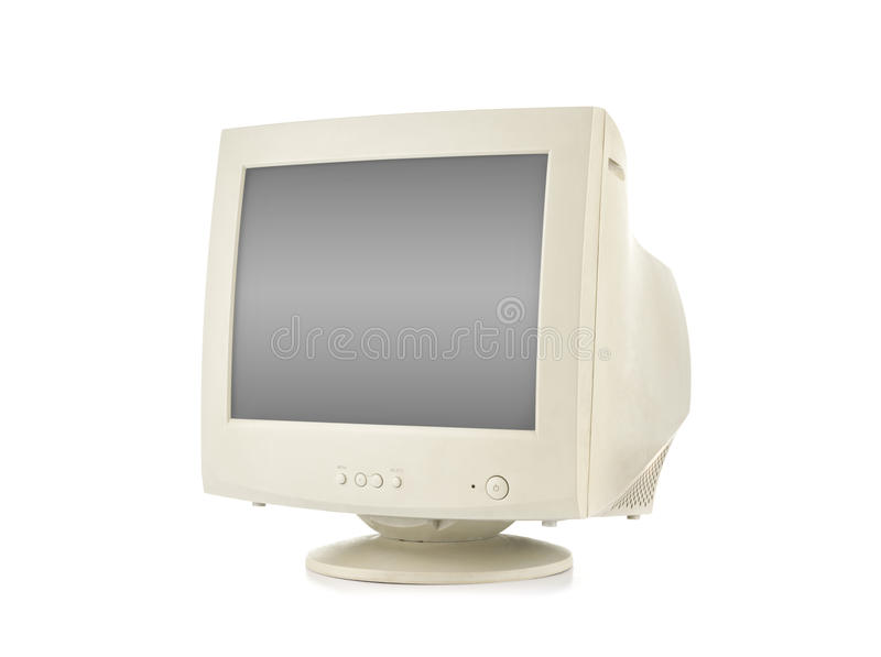 Gammal datorbildskärm arkivfoton