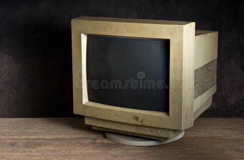 Gammal datorbildskärm arkivfoto