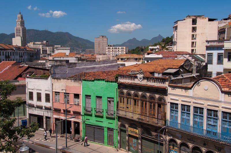 Gammal del av Rio de Janeiro arkivfoton