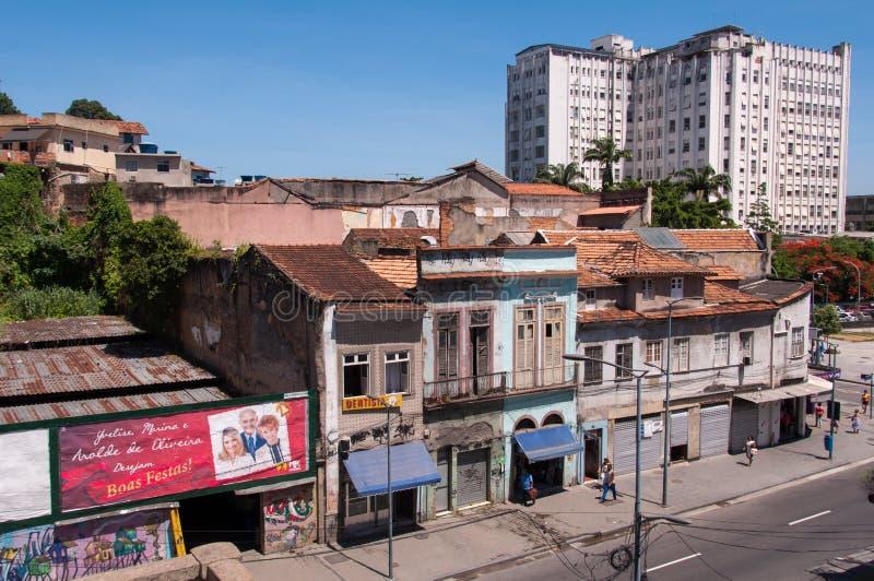 Gammal del av Rio de Janeiro fotografering för bildbyråer