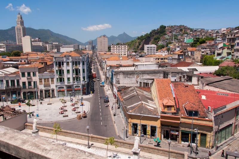 Gammal del av Rio de Janeiro arkivbilder