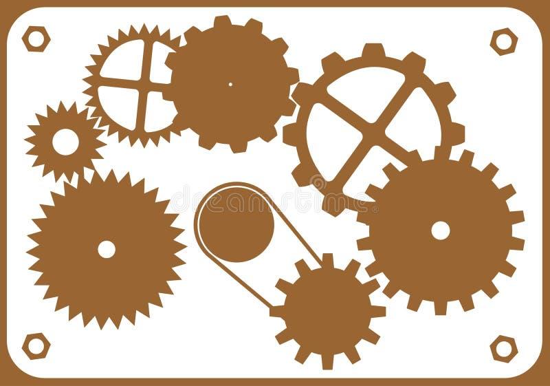 gammal designelementmaskin vektor illustrationer