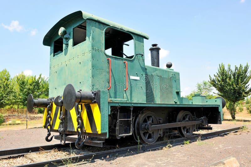 Gammal diesel- lokomotiv, Puertollano, Castilla la Mancha, Spanien royaltyfria foton