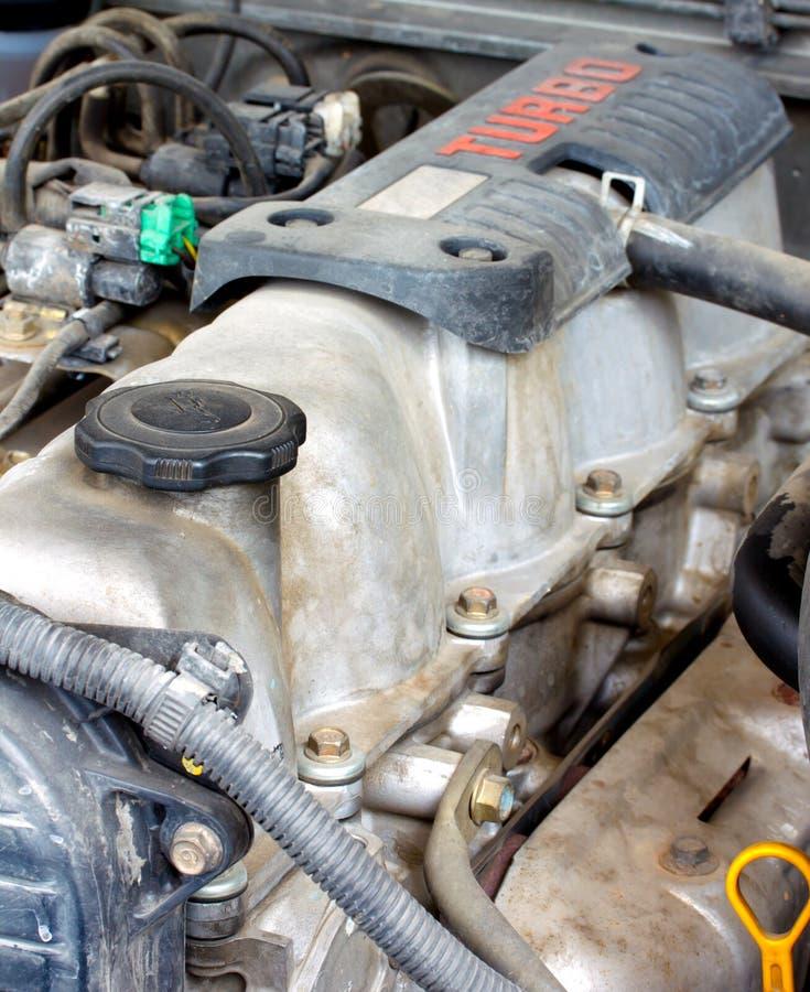Gammal diesel- turbo motor 1 arkivfoton