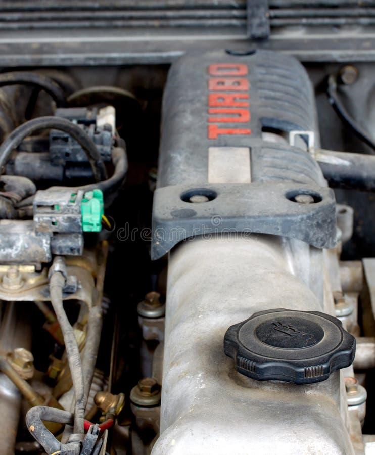 Gammal diesel- turbo motor 2 arkivbilder