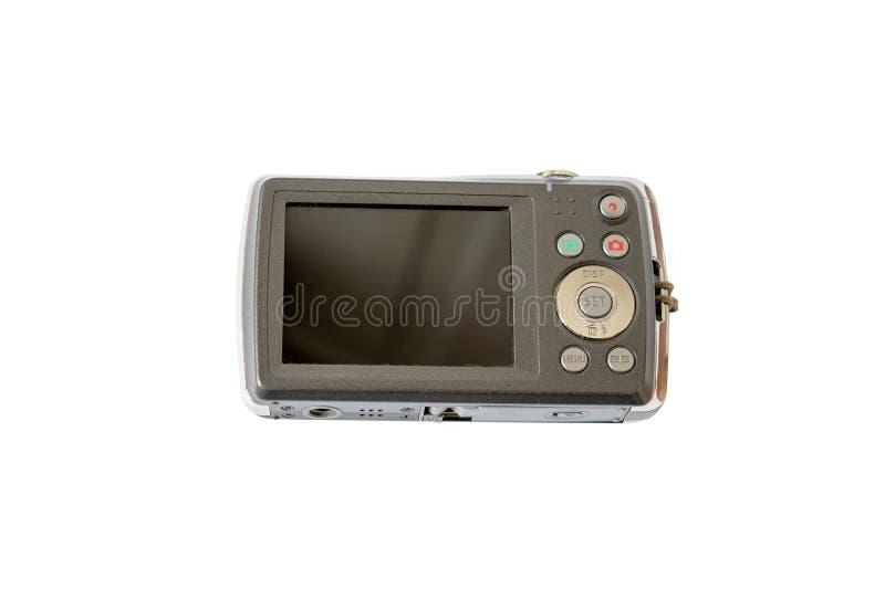 Gammal digital kamera som isoleras på vit bakgrund royaltyfria bilder
