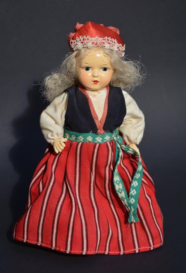gammal docka royaltyfri foto