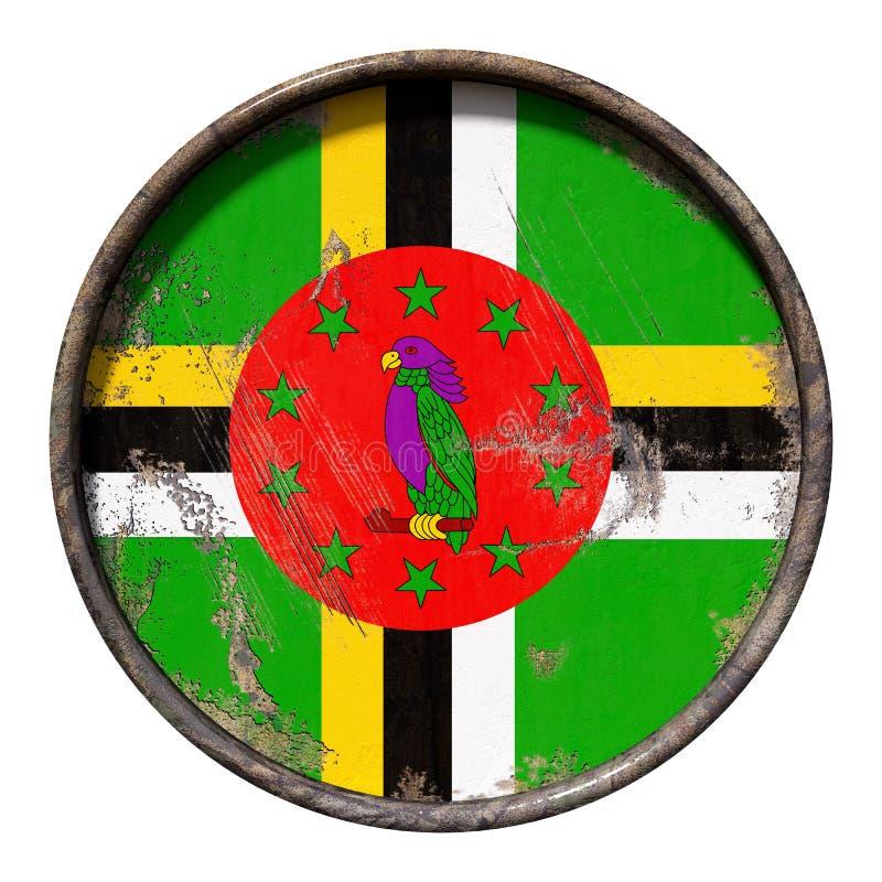 Gammal dominikisk flagga vektor illustrationer