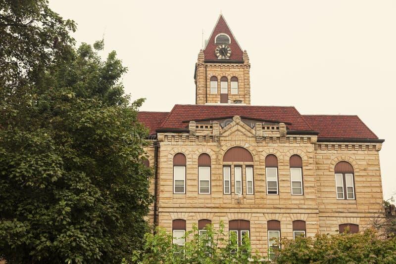 Gammal domstolsbyggnad i Carrollton, Greene County arkivbilder