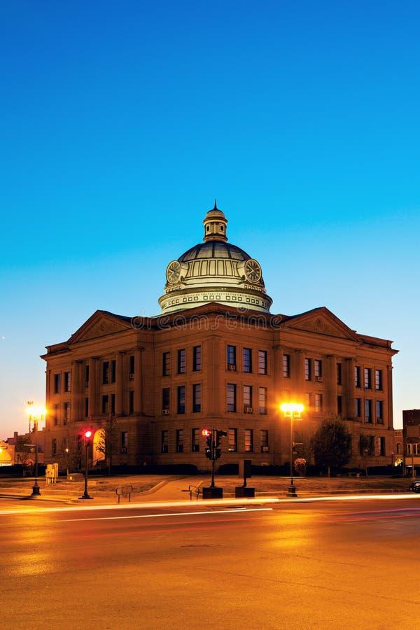 Gammal domstolsbyggnad i Lincoln arkivfoto
