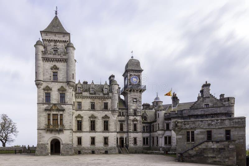 Gammal Dunrobin slott royaltyfri fotografi