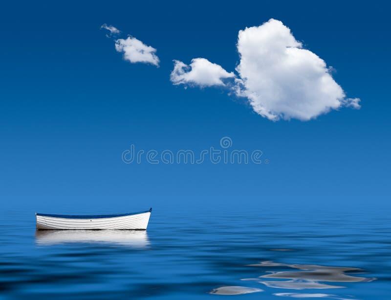 Gammal eka marooned på havet royaltyfri bild