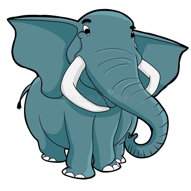 Gammal elefant vektor illustrationer