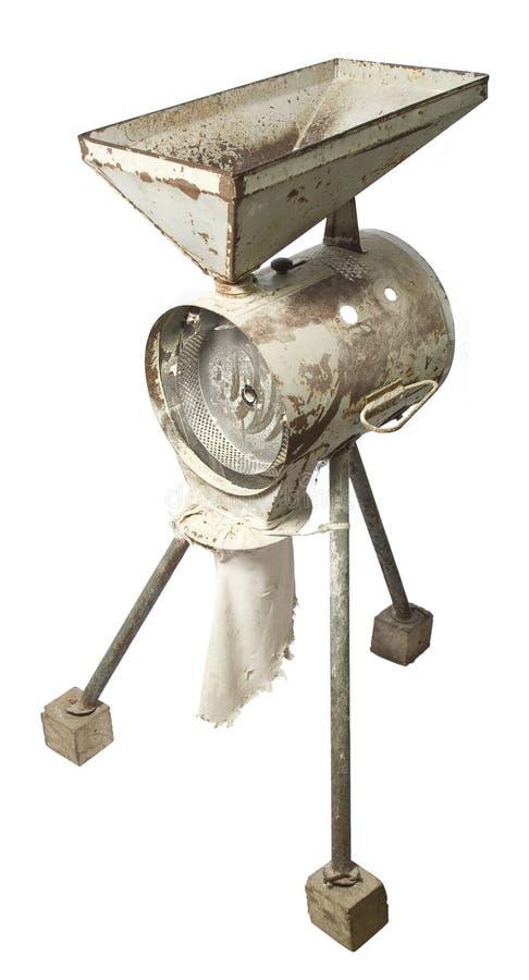 gammal elektrisk grinder för havre arkivfoton