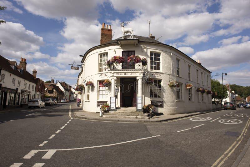 Gammal engelsk bar i Hampshire England UK royaltyfria bilder
