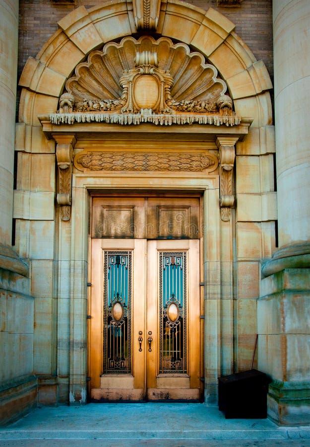 gammal entryway royaltyfri foto