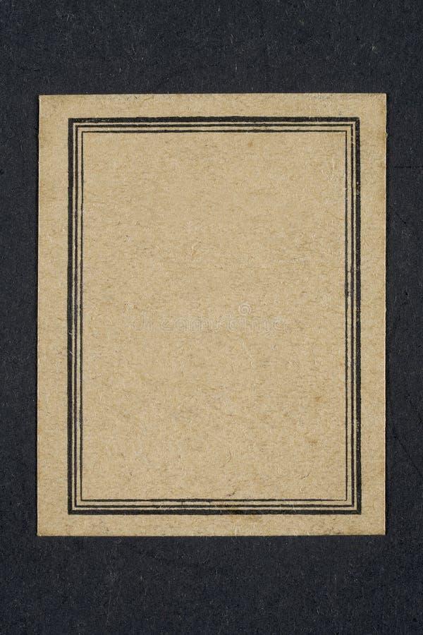 Gammal etikett för skrivbok royaltyfri bild