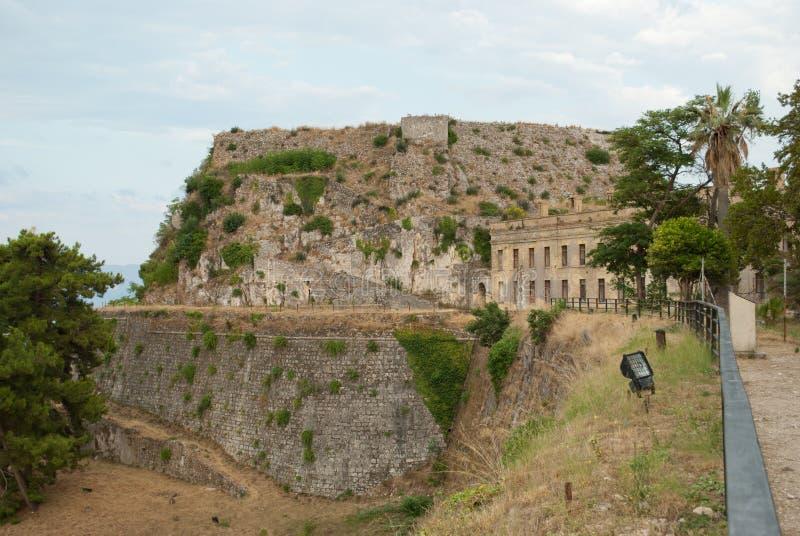 Gammal fästning av Korfu royaltyfria foton
