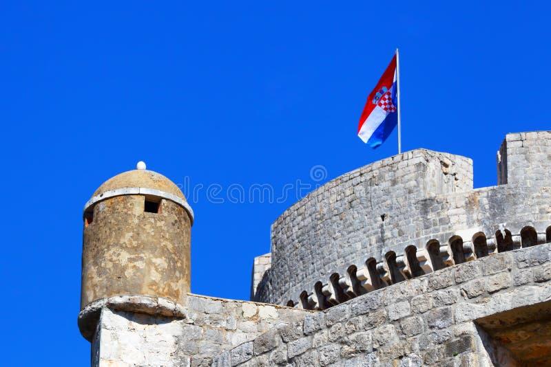 Gammal fästning i Dubrovnik croatia royaltyfria foton