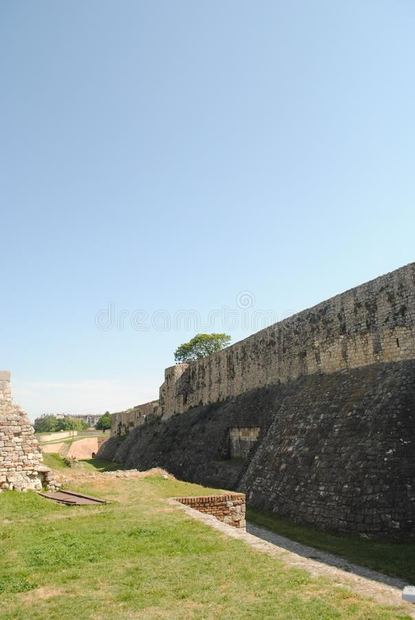 Gammal fästning Kalemegdan i Belgrade Serbien royaltyfria foton