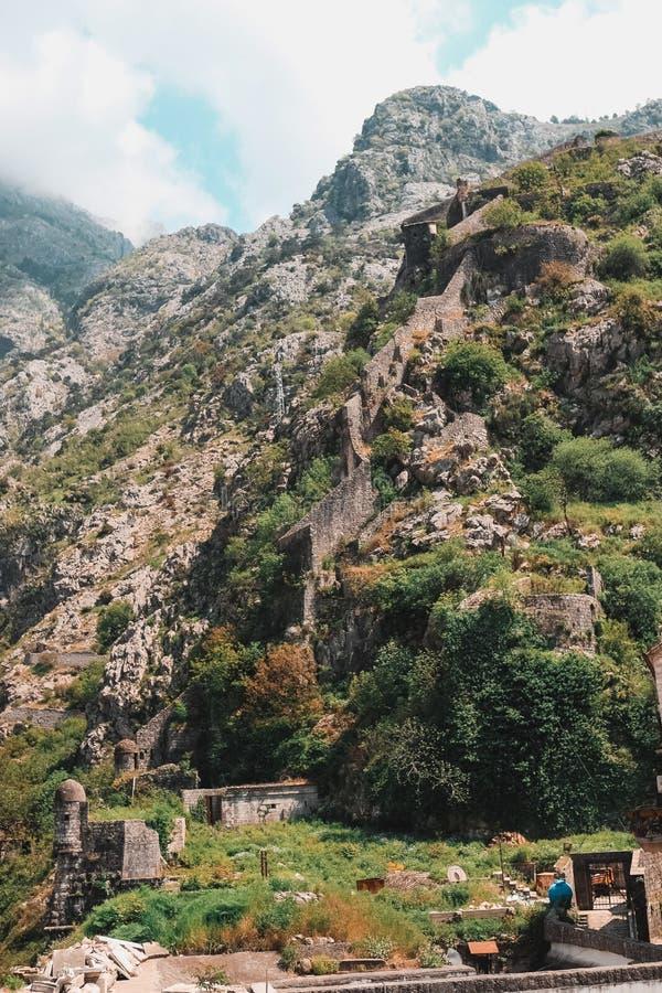 Gammal fästningSt John San Giovanni i Kotor, Montenegro royaltyfria bilder