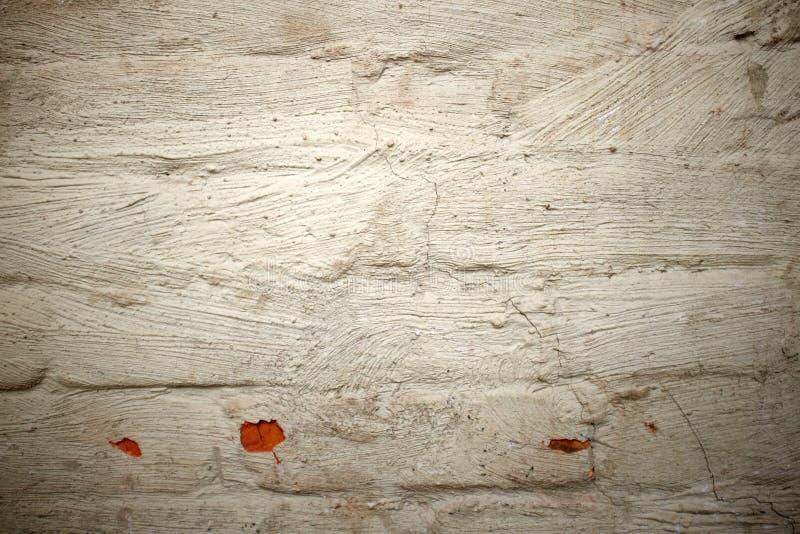Gammal för tegelstenvägg för grunge vit målad bakgrund arkivfoto