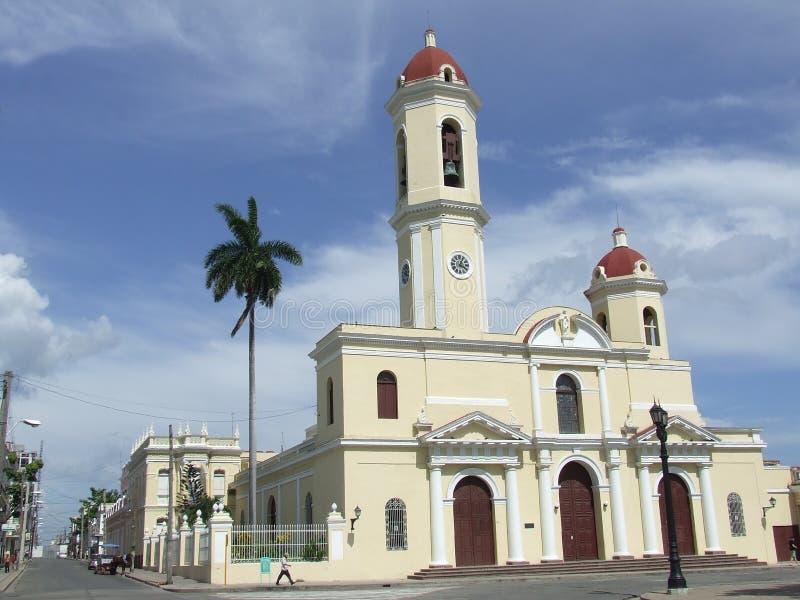 gammal församling för kyrkliga cienfuegos royaltyfri foto