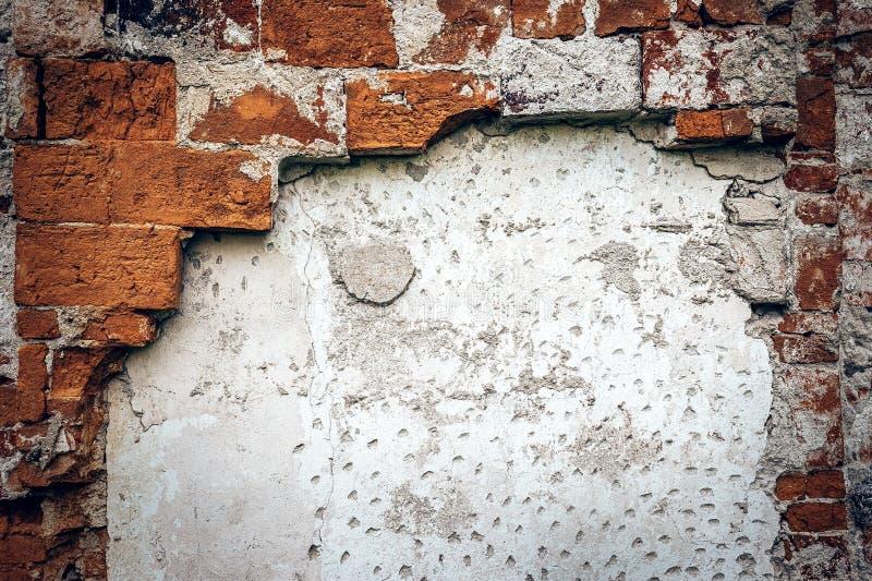 Gammal förstörd textur för tegelstenvägg royaltyfri fotografi