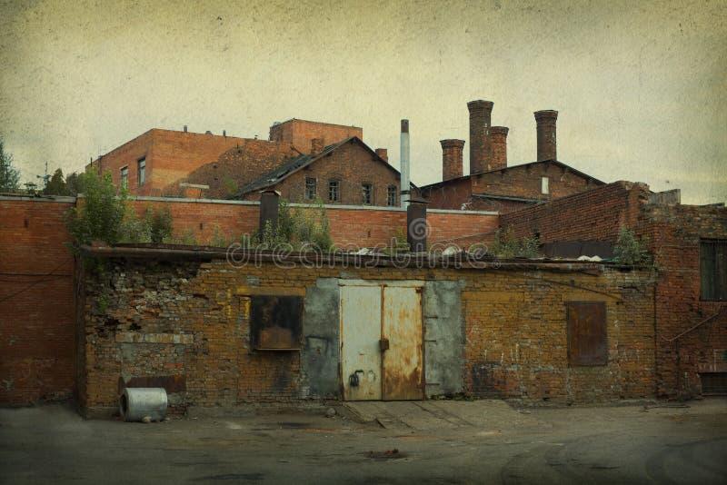 gammal fabrik royaltyfri foto