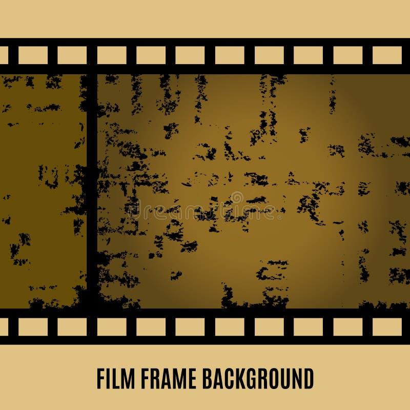 Gammal film för vektor, film, bildbandbaner stock illustrationer