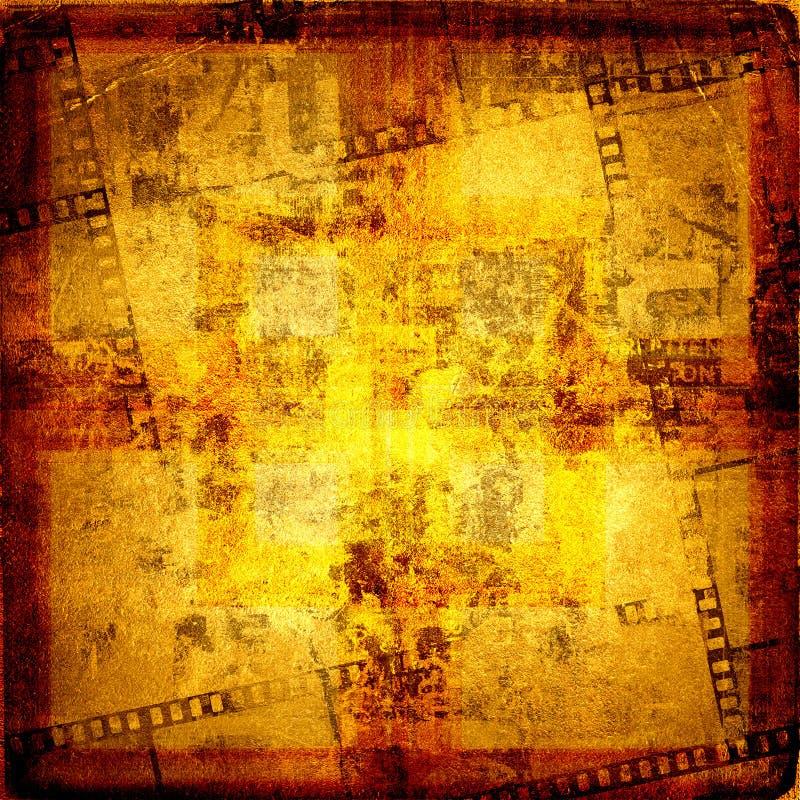 gammal filmstripramgrunge royaltyfri illustrationer