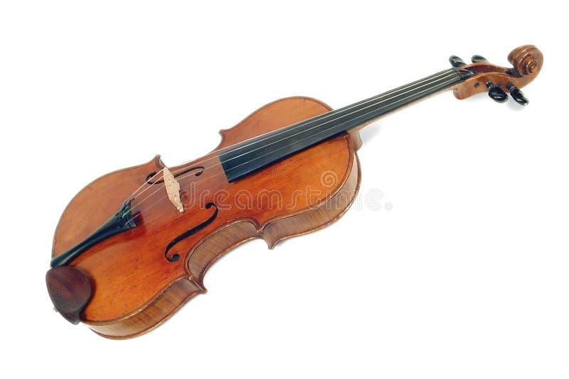Gammal fiol av ledar- Faciebat Anno 1713 år arkivfoto