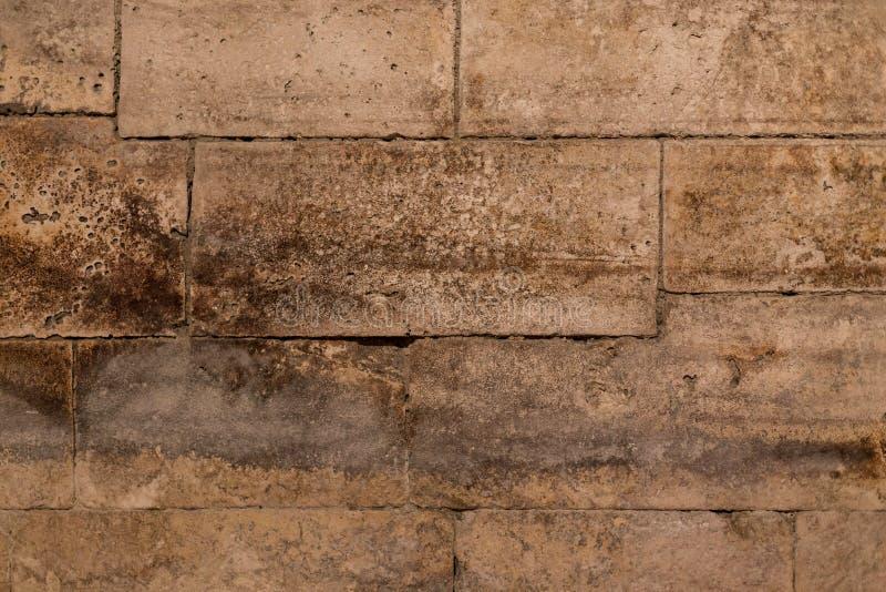 Gammal forntida grunge för tegelstenvägg arkivbild