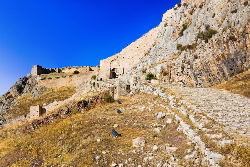 Download Gammal Fort I Corinth, Grekland Arkivfoto - Bild av gammalt, säkerhet: 27280164