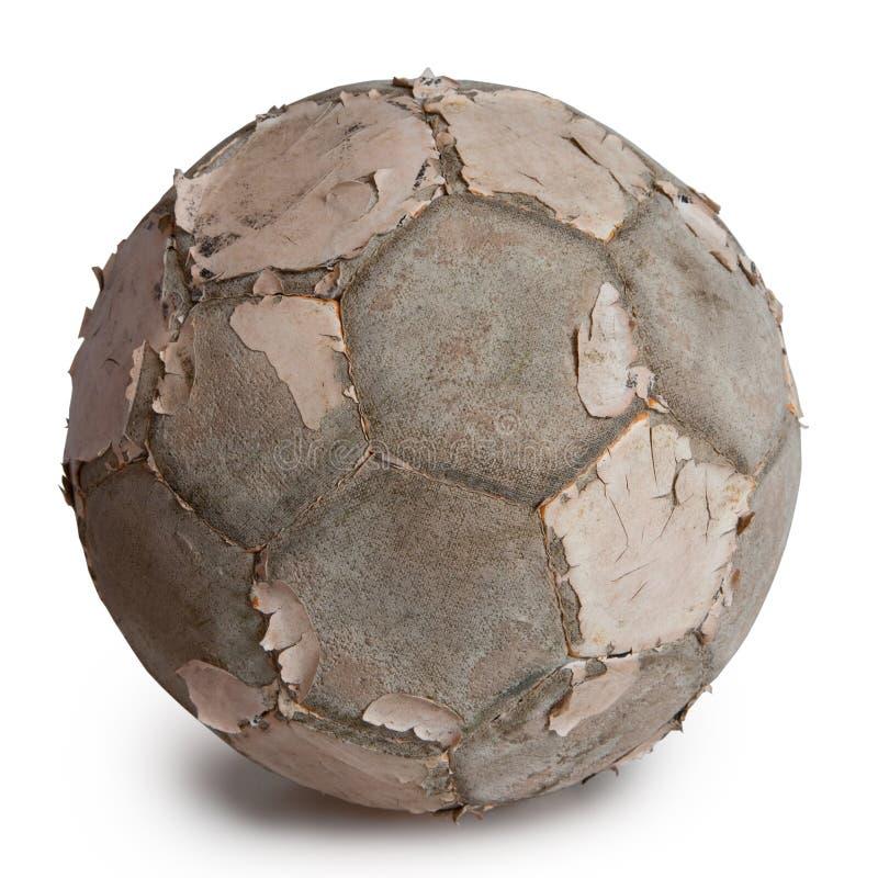 gammal fotboll royaltyfria foton