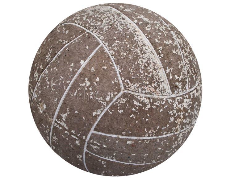 gammal fotboll för boll arkivbild
