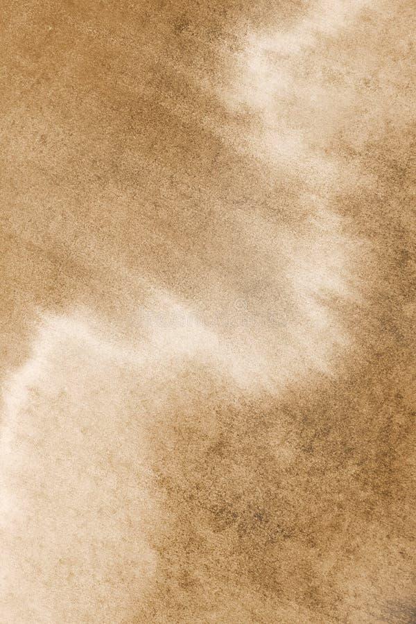 Gammal fototexturstylization i sepia färgar med fläckar, befläcker och skrapar Åldrig för tappningbakgrund för gammal stil illust arkivbild