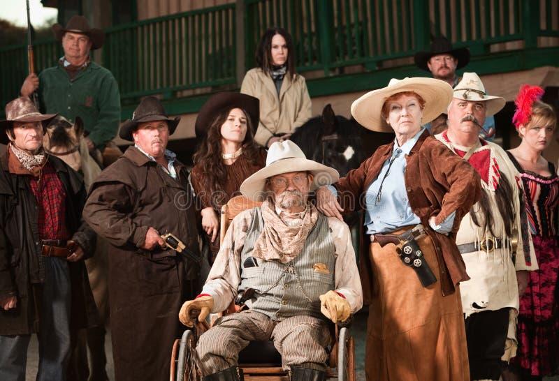 gammal fru för cowboy royaltyfria foton