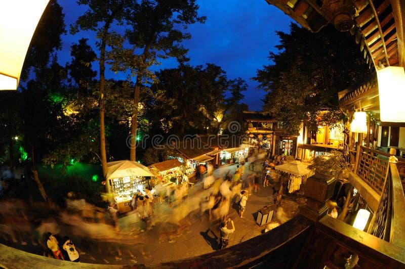 Gammal gata för Chengdu jinli fotografering för bildbyråer