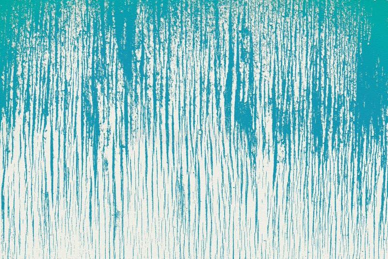 Gammal gipsvägg, målad i blå och elfenbensfärger royaltyfria bilder